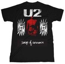 Make Your Own Shirt Men'S U2' Songs Of Innocence Red Shade Short Gift O-Neck Shirts o von radecki 4 songs