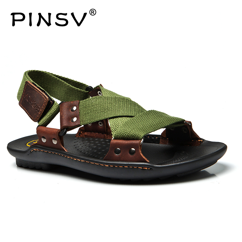 Leather Sandals Men Shoes Sandals Summer Personalized Braided Men Slippers Men Shoes Beach Shoes Large Size ...