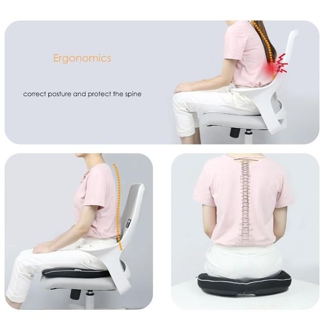 Nuevo cojín de asiento cómodo de espuma de memoria ergonómica para camión de avión, asiento de coche, cojín para silla de oficina