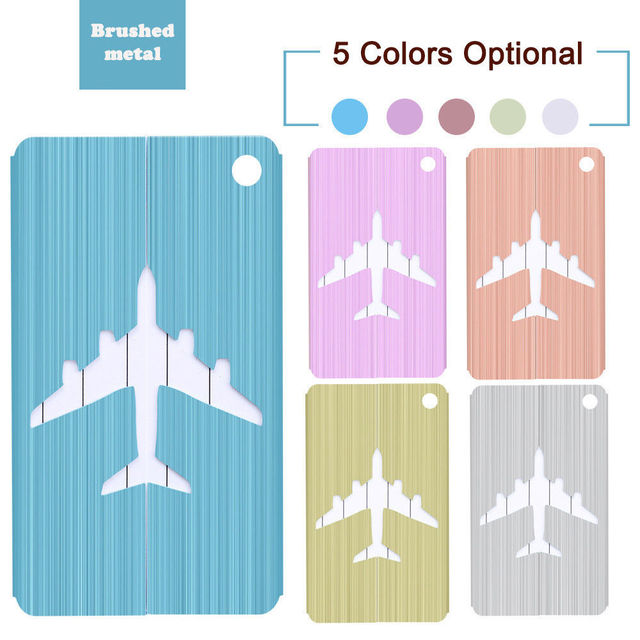 New Brushed Aluminium Travel Business Tags – International Travel Contact for Luggage and Bags