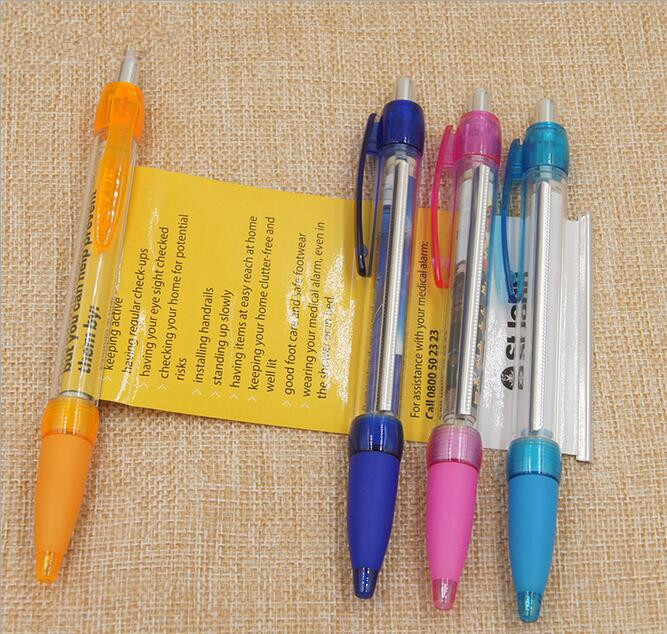 500PCS LOT Solid Banner Pen Customized Gift Pen For Birthday School Company Business