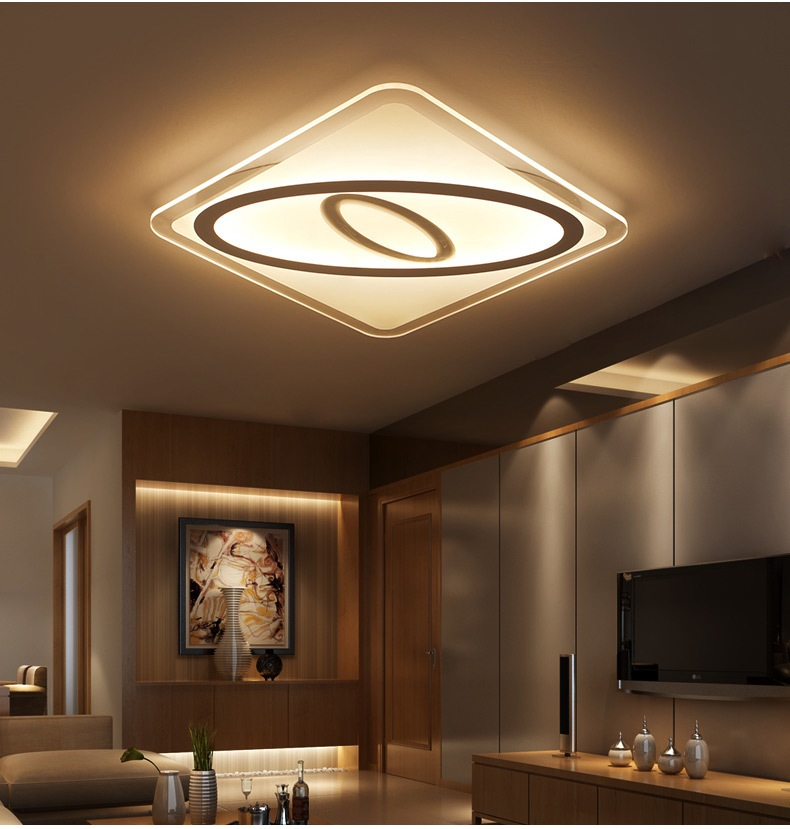 Slim Acrylic Art LED Ceiling Light Living Room Bedroom Study Room Lamp Office & Commercial Lighting Ceiling Lights 110-240V