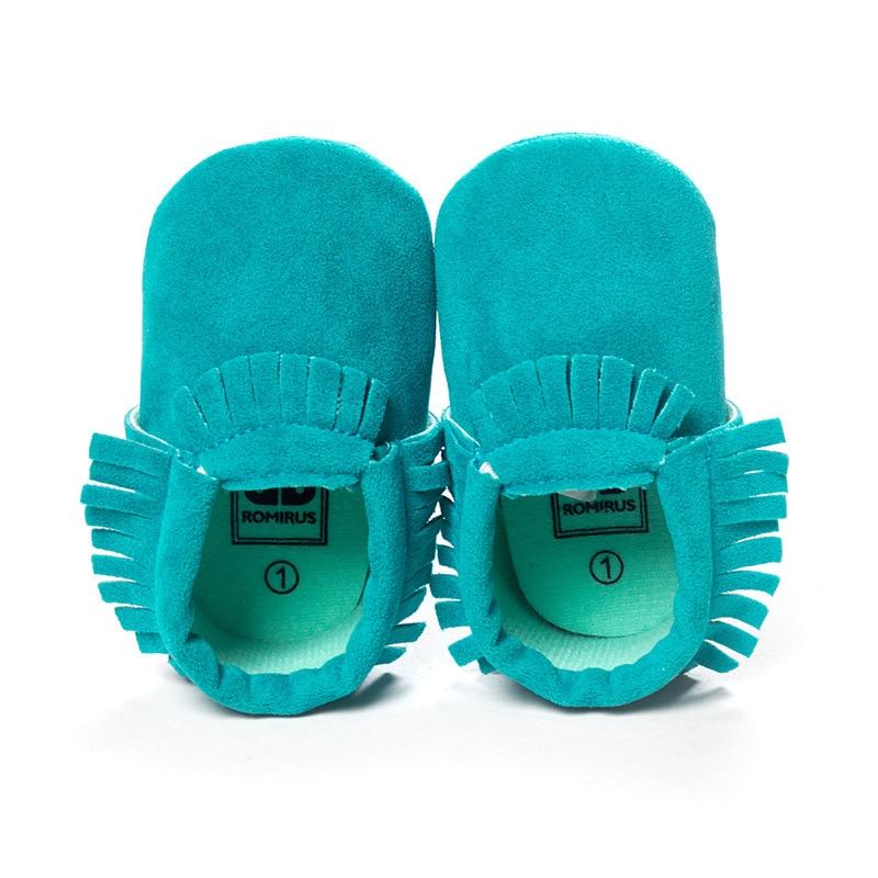 Hot PU Suede Kulit Baru Lahir Bayi Laki-laki Perempuan Bayi Moccasins - Sepatu bayi - Foto 3