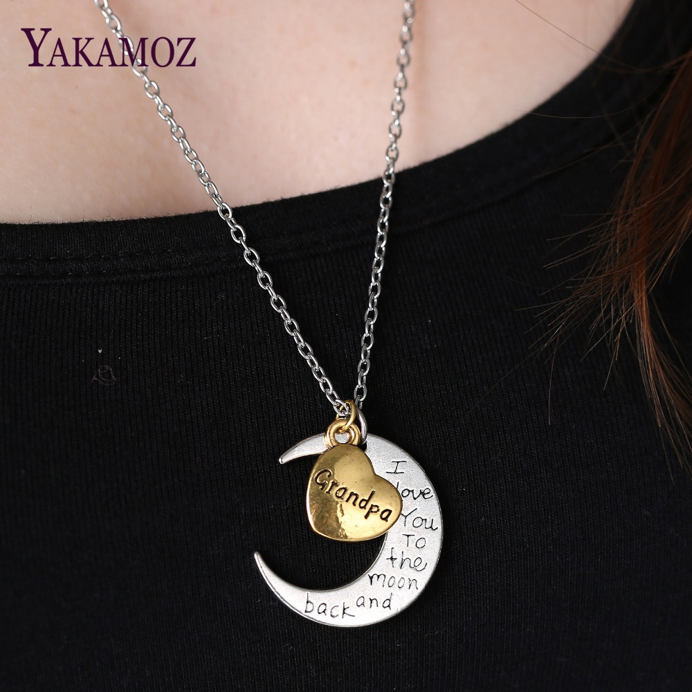 Special Necklace Gift Silver Gold Color Engraved Letter Pendants Statement Choker Necklace Jewelry 2017