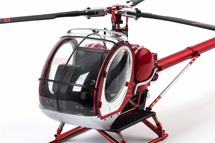 Freeshiping Schweizer 300C Hughes Metal and High Simulation RC KIT helicopter for training and agriculture r c helicopter training legs platform