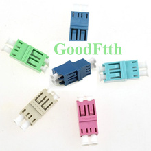 Fiber Optic Adapter Adaptor Coupler LC-LC Duplex with Double Locks GoodFtth 100pcs/lot цена и фото