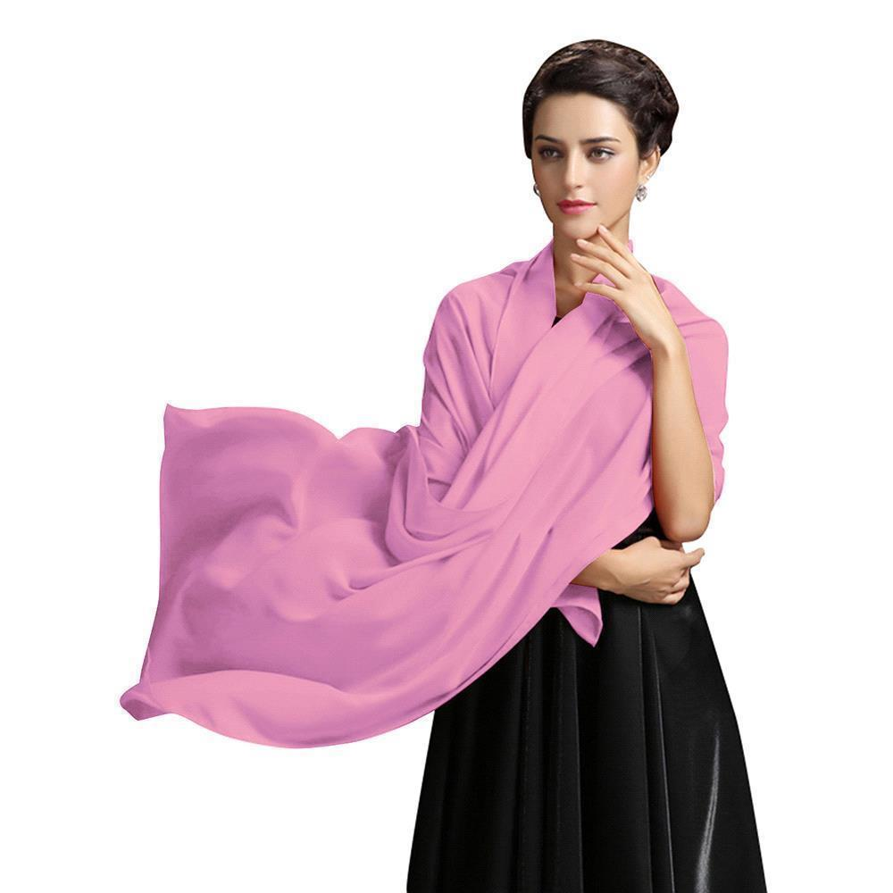 Купить с кэшбэком Stock Cheap Solid Chiffon Wedding Bridal Shawl Wrap Cape Stole Women Bolero Scarf Cloak Wedding Accessories