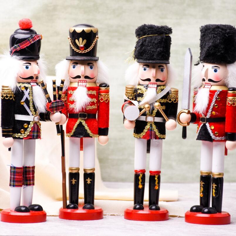 Le casse-noisette bois tissu soldats ameublement créatif nouveauté Arts & artisanat ornements famille jeunes mariés cadeaux clients
