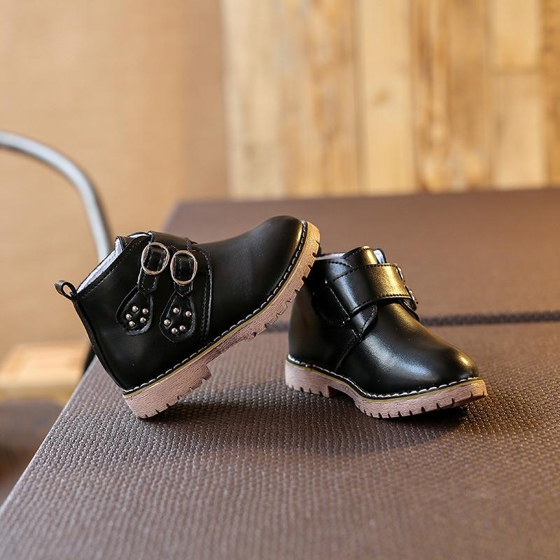 2016 Brand new children boots children s casual shoes baby flat waterproof boots boys girls autumn