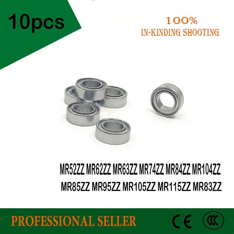 10pcs MR52ZZ MR63ZZ MR74ZZ MR84ZZ MR104ZZ MR85ZZ MR95ZZ MR105ZZ MR115ZZ MR83ZZ P0 Mini Miniature Bearing