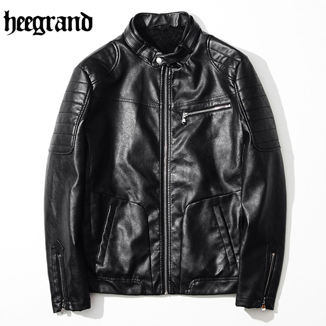 HEE GRAND 2017 New Lether Jacket Man Jackets Male Pu Leathers Coat For Men Jacket Mens Motorcycle Jackets MWP402