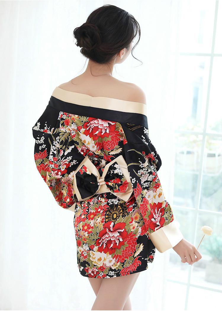 21bc982bb4634 2019 Women Japanese Kimono Sakura Floral Kimono Robe Sexy Nightgown ...