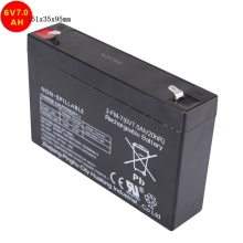 New sealed recharge lead acid battery solar ups battery storage 6V 7AH for battery electric vehicle car 151x35x95cm