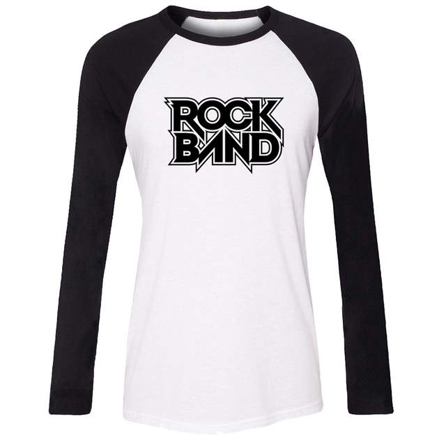 IDzn Frauen T shirt Kühlen Heiße punk Rock Band Muster Raglan ...