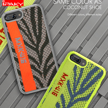 IPAKY Fabric Sports Style Case for iPhone Xs Shockproof Armor Soft Silicone Hybrid XR MAX 8 7 6
