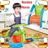 Новая идея подарка для переменной лошадка и стул Ездовые игрушки мультфильм Стиль милые дети образования инструмента Детская безопасность...