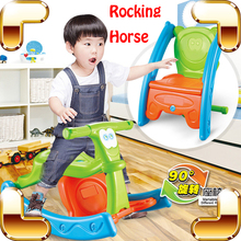 New Idea Gift Baby Variable Rocking Horse & Chair Ride On Toys Cartoon Style Cute Educational Tool Kids Safety Hobbyhorse Drive