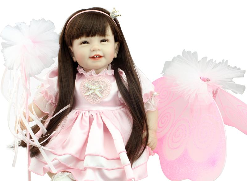 55cm Silicone reborn baby dolls vinyl toddler princess doll toys play house toys lifelike kids birthday gifts girls brinquedos милн нина два дня на любовь