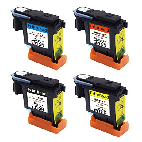 10Set* C4810A C4811A C4812A C4813A Print head for HP 1000 1100 1200 2200 2280 2300 2600 2800 CP1700 500 9100-in Printer Parts from Computer & Office    1