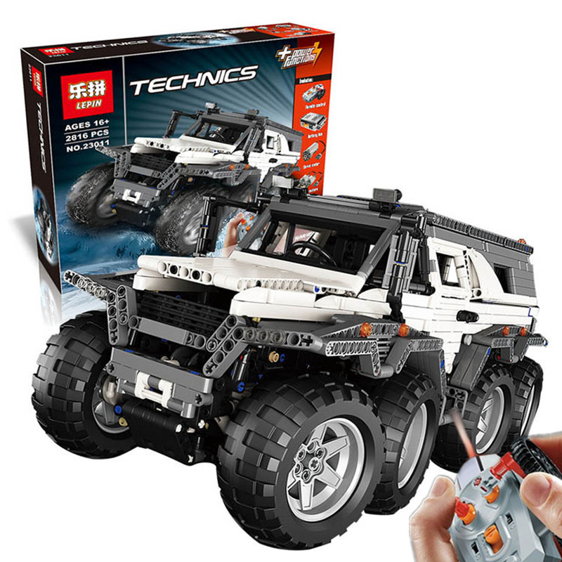 New LEPIN 23011 2816Pcs Technic Series Off-road vehicle Model Building Kits Block Bricks Compatible Toys boy brithday gifts lepin 22001 pirate ship imperial warships model building block briks toys gift 1717pcs compatible legoed 10210