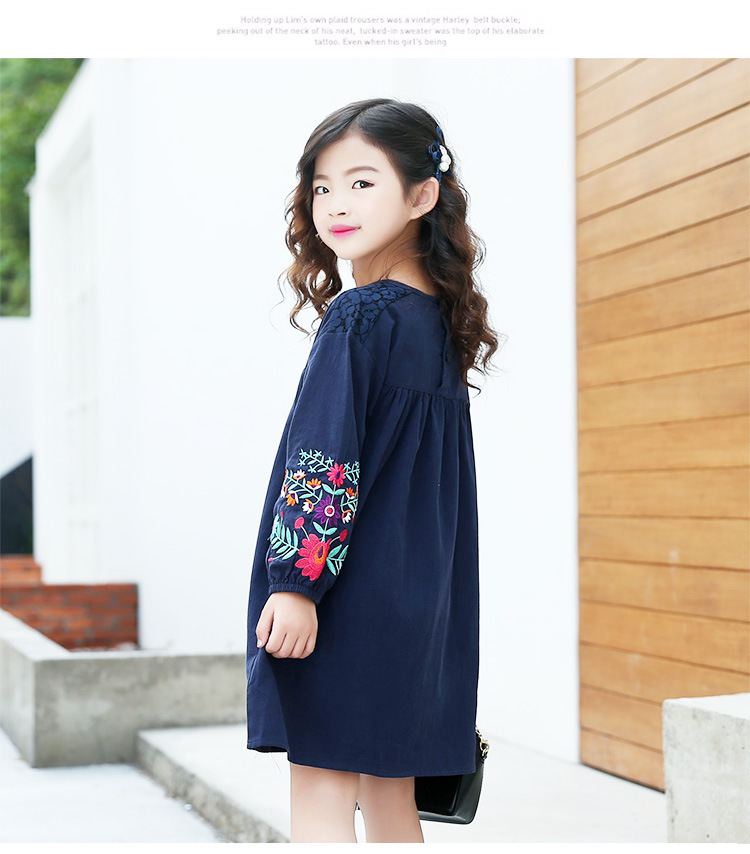 74c09f4c4ec78 US $120.0 |EMS DHL Free shipping 2017 Spring Autumn New Children's Wea  Girls Dress Embroidered Big Girls Cotton Doll Dress-in Dresses from Mother  & ...