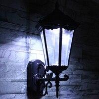 LED Solar Wall Lamp Waterproof Outdoor Lighting 2W Classical LED Pole Decorative Lights 6V Garden Garden