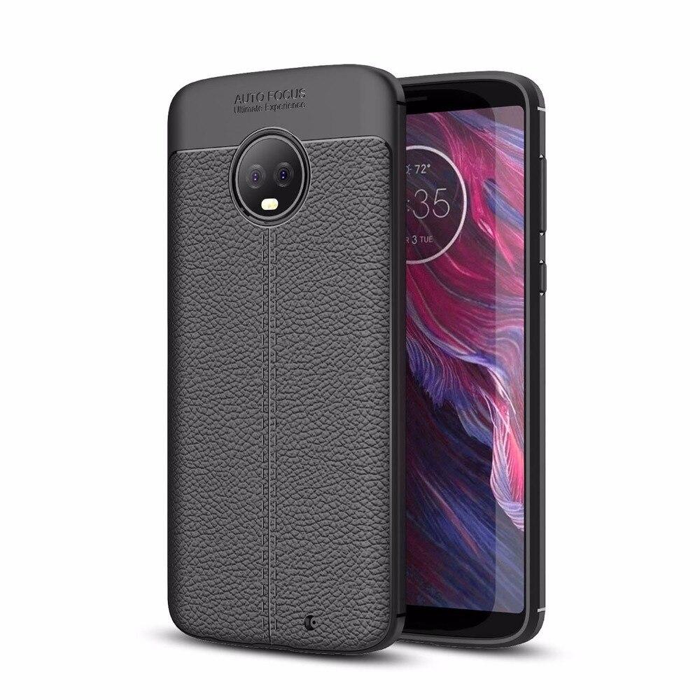 Для Motorola Moto G6 плюс ультра тонкий кожаный чехол кожи Гибкая Резина TPU силиконовая защитная крышка делам для Moto G6 x4 XT1900