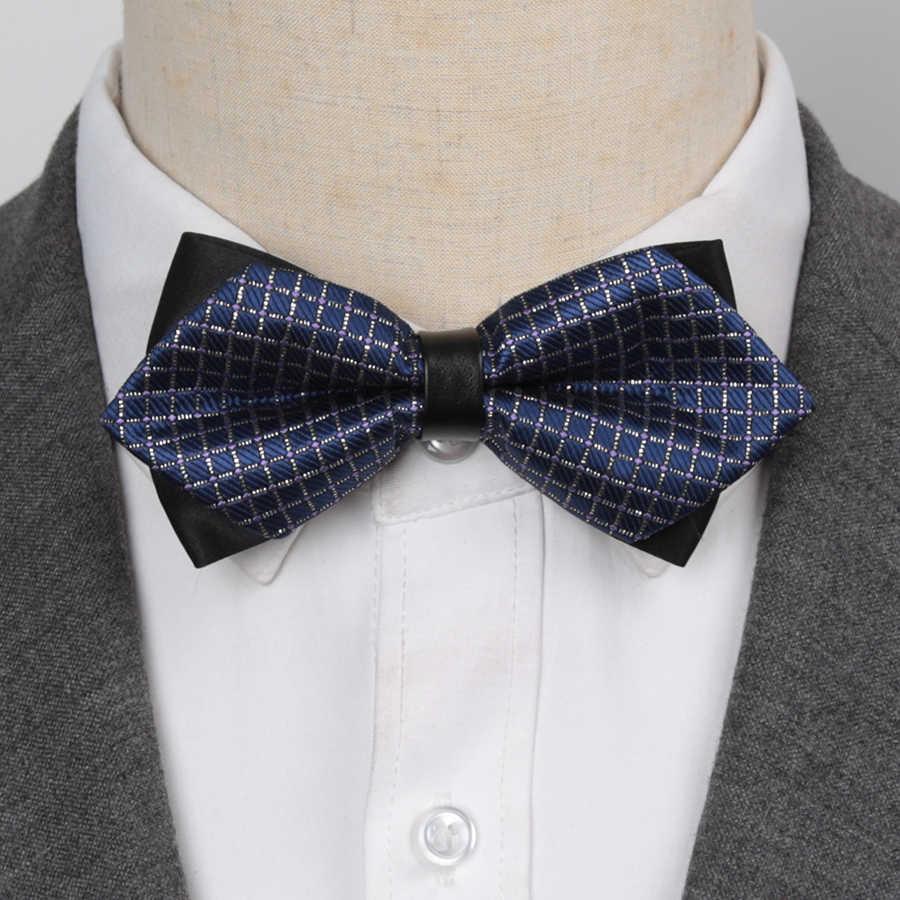 Hommes noeud papillon date papillon noeud hommes accessoires luxueux noeud papillon noir cravate formelle commerciale costume mariage cérémonie cravates