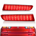 For 2008-2014 Mitsubishi Lancer Red Lens LED Rear Bumper Reflector Brake Light Lamp