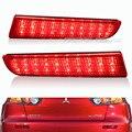 Para 2008 2014 Mitsubishi Lancer Lens Red LED pára choques traseiro refletor de luz