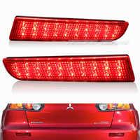 Per il 2008-2014 Mitsubishi Lancer Red Lens LED Paraurti Posteriore Del Riflettore Lampada Della Luce del Freno EVO Evolution Outlander Sport
