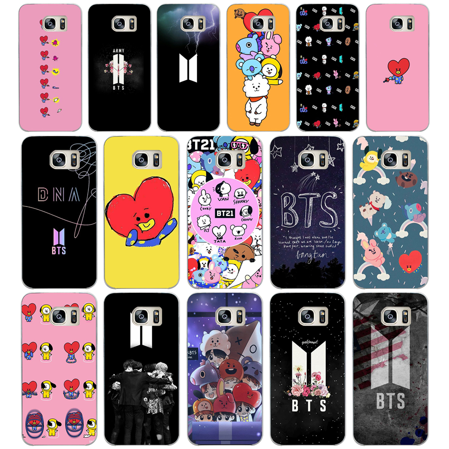 the latest e30a0 22bbc 37DD BTS Bangtan Boys Scouts BT21 Love Yourself Hard Cover Samsung Galaxy  S4 S5 Mini S6 S6 S8 S9 Edge Plus S7 Edge
