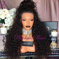 hot sale! braided synthetic lace front wig 180% density kinky curly heat resistant synthetic lace front wig for black women