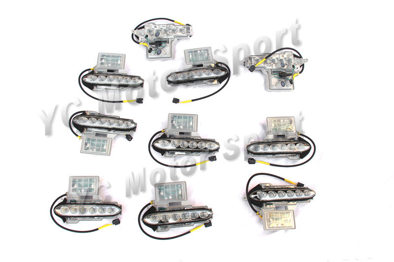 Car Accessories Front Bumper Genuine DRL Day Running Light LED Lamp Assy 2pcs Fit For 2008 2016 Nissan R35 GTR GTR35 Headlight