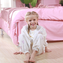 GirlsCotton Printed Garment Long Sleeve Nightwear Childrens Spring and Summer Thin Baby Home Suit