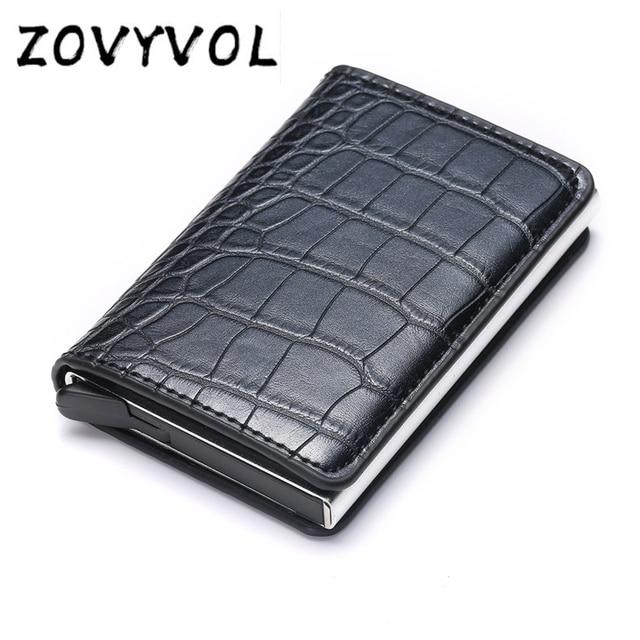 ZOVYVOL Automatic RFID Card Holder Aluminium Bank Card Wallets  Men Credit Card Holders Business ID Card Case Fashion