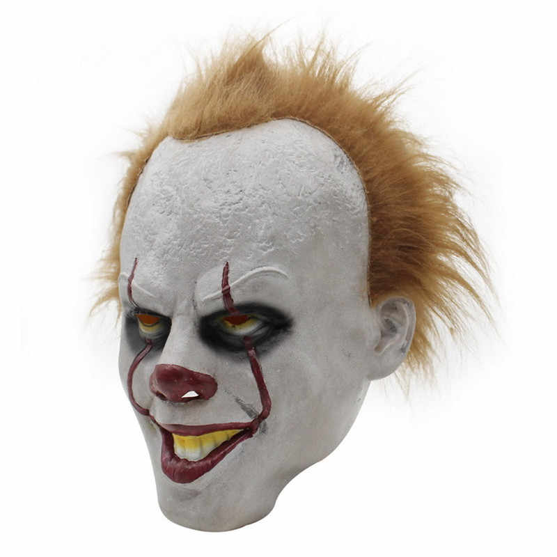 Halloween Costumes Scary Men.Movie Stephen King S It Pennywise Cosplay Costumes Scary Mask Joker Suit Set Women Men Halloween Costumes Party Clown Costume