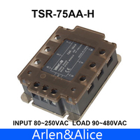 75AA TSR 75AA H Three phase High voltage type SSR input 80~250VAC load 90 480VAC single phase AC solid state relay