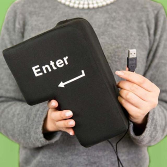 Slow Rising Big USB Enter Key Anti Stress Button
