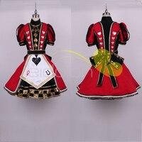 [Настройка] Аниме! Алиса: Безумие возвращает Алиса Лолита платье Косплэй костюм любить сердце Хэллоуин платье для Для женщин Бесплатная дос