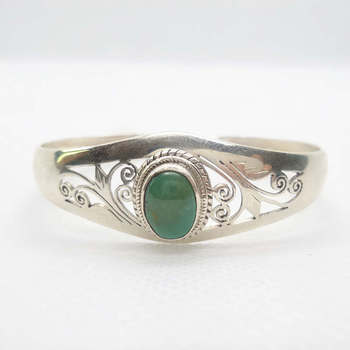 T9108 Nepal 925 Sterling Silver Inlaid Natural Turquoises Stone Hollow Vintage Open Cuff Bangles Free ship