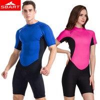 5084ca4dd SBART New 2MM UPF50 Neoprene Short Sleeve Wetsuit Men Women Warm Anti  Jellyfish Snorkeling Scuba Diving