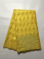 5 Yards/pc Most popular yellow french net lace embroidery african mesh lace fabric for dress JY8-5