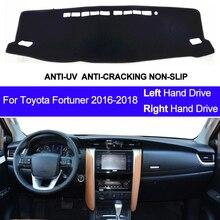 Cubierta de salpicadero de coche para Toyota Fortuner 2016 2017 2018, alfombrilla para salpicadero, cubierta de tablero, parasol, decoración de coche
