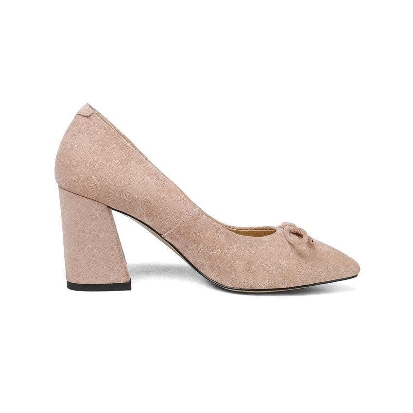 Bout noir rouge Dames Style Glissent Tasslynn 43 rose Pointu Taille 2018 Papillon Chaussures noeud Pompes Femmes Sabot 34 Peu Apricot Profonde Sur Talons Doux gris w4Fv4Sq1px
