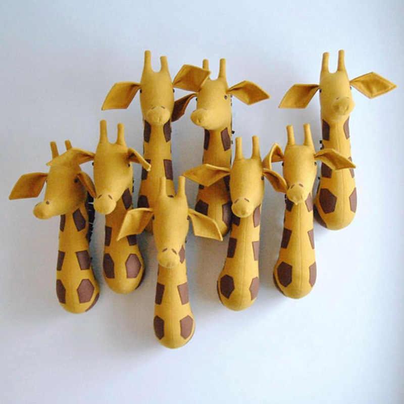 3D настенная голова животного крепление Зебра/Слон/Жираф мягкие детские игрушки дети комнатная настенная украшение день рождения Рождественский подарок