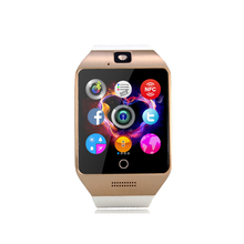 Q18s Support Bluetooth Smart watches NFC SIM GSM Video camera Support Android/IOS cell phone Sport Smartwatch