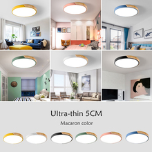 Nordic Simple Modern Wood Ceiling Lamp Ultra thin 5cm Round LED Ceiling Light For Bedroom Living Room Kitchen Aisle Study Cafe nordic simple kitchen loft led ceiling light living study dinning room modern creative wood bedroom aisle lustre lamp garland