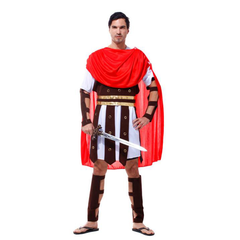 Adult Men Fancy Dress Roman Brave Warrior Soldier Gladiator Arm Guard Cosplay Costume Halloween Makeup Men's kings Princes Party