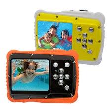 HD ЖК-экран мини мультяшная детская камера подарок для детей Подводное фото супер водонепроницаемая Противоударная Цифровая камера для плавания
